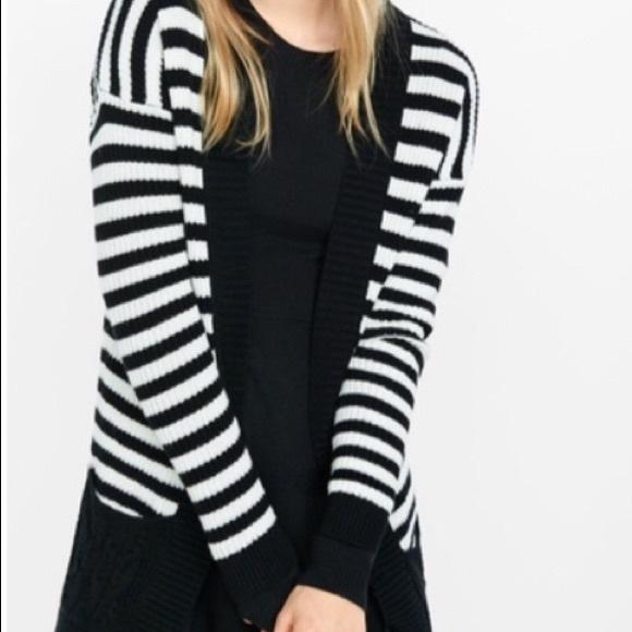 Express Sweaters - Like new! Express Knit Striped Sweater/Cardigan